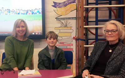 Young environmentalist songwriter Frankie Morland at Sheet Primary School