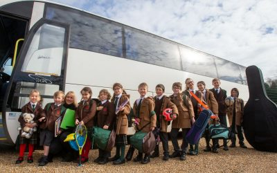 Churcher's link bus between Petersfield and Liphook helps busy parents and the environment
