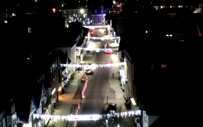 Petersfield's Christmas lights switch-on, 2020 style
