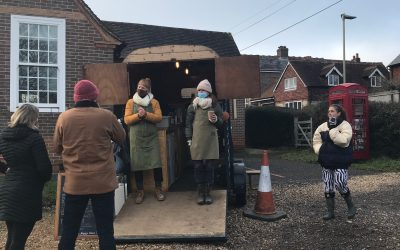 A horse-box cafe proves a hit with Steep residents in lockdown